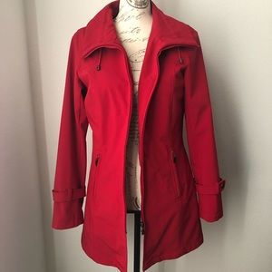 KRISTEN BLAKE | Red Trench Coat Size Small